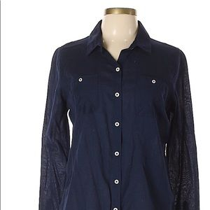 Mission Soft Navy Button Up